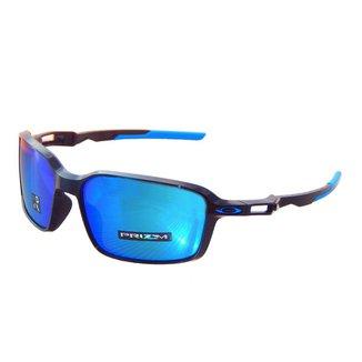 Óculos Oakley Siphon Polished Black/ Lente Prizm Sapphire