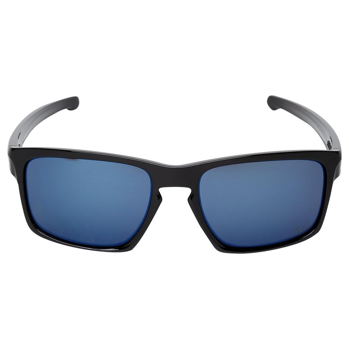 6fc0d3c7262d2 Óculos Oakley Sliver - Preto e Azul - Compre Agora   Netshoes