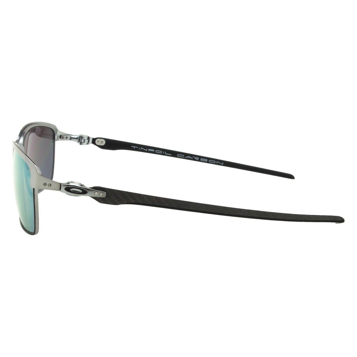 ... Óculos Oakley Tinfoil Carbon Lead Matte Black - Esmerald Iridium  Polarizado 70986237f5