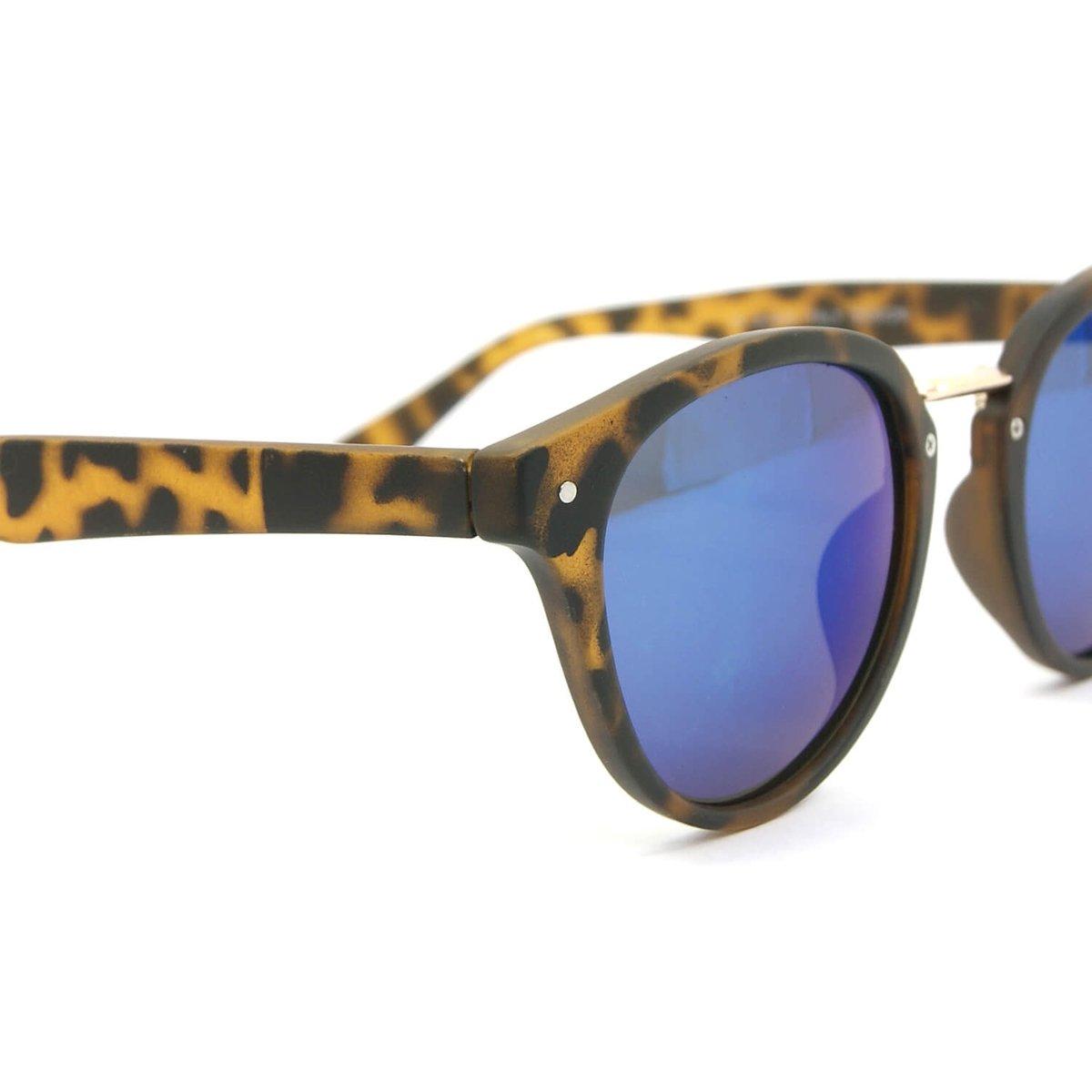 Óculos Oncinha com Lente Espelhada Azul - Marrom - Compre Agora ... 0a07690f74