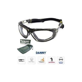 Óculos Proteção Turbine - Lente Incolor Transparente - Danny