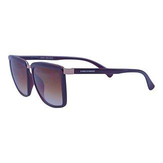 Óculos Sol Mackage Unissex Acetato Retangular - Marrom