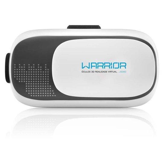 Óculos Warrior Realidade Virtual 3D Gamer - Branco+Preto