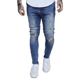 OFFERT Calça OFFERT Jeans Premium Destroyed Skinny Azul 40