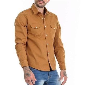 OFFERT Camisa Sarja  Premium  Caramelo Slim Fit Caramelo M