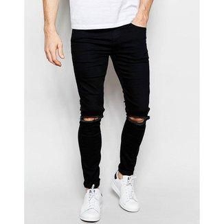 Offert Kit Calças Offert Jeans Destroyed Skinny / 48 Masculino
