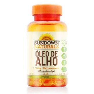Óleo de Alho 1500mg 100 cápsulas Sundown Naturals