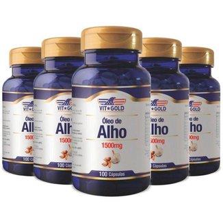 Óleo de Alho 1500mg - 5 unidades de 100 Cápsulas - VitGold