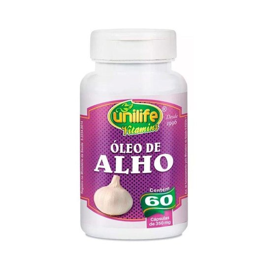 Óleo de Alho - 60 Cápsulas - Unilife -