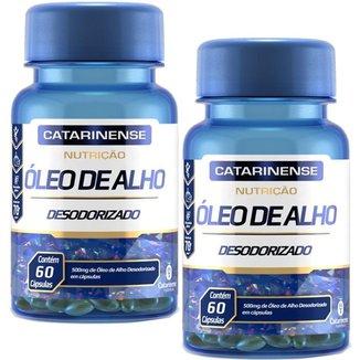 Óleo de Alho Desodorizado 500mg 2x Com 60 Cápsulas Catarinense