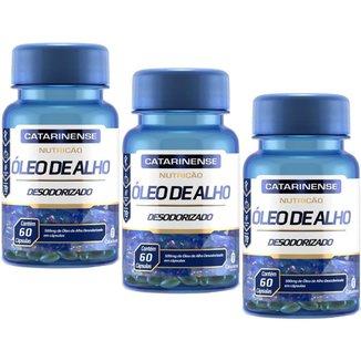 Óleo de Alho Desodorizado 500mg 3x Com 60 Cápsulas Catarinense