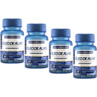 Óleo de Alho Desodorizado 500mg 4x Com 60 Cápsulas Catarinense