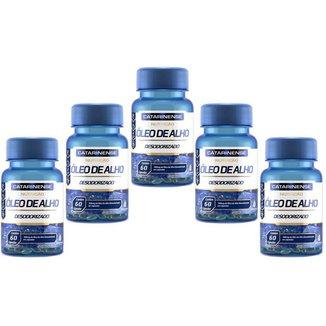 Óleo de Alho Desodorizado 500mg 5x Com 60 Cápsulas Catarinense