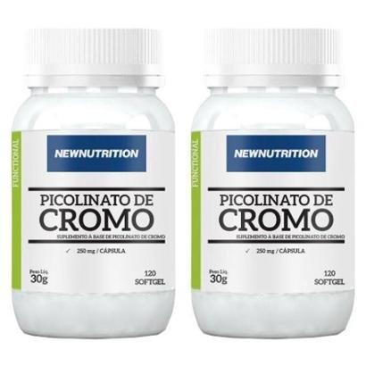Óleo de Cártamo + Cromo - 2 unidades de 120 Cápsulas - NewNutrition - Unissex