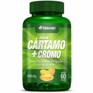 Óleo de Cártamo + Cromo    60 Cápsulas   Herbamed
