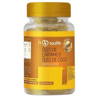 Óleo de Cártamo e Coco 1000mg - 150 Cáps - Soulife