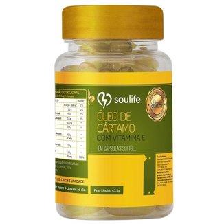 Óleo de Cártamo e Vitamina E 1000mg - 60 Cáps - Soulife