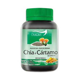Óleo de Chia + Cártamo 1000mg 60 Cápsulas Duom