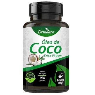 Óleo de Coco Extra Virgem 1000mg 100 Cápsulas - Denature