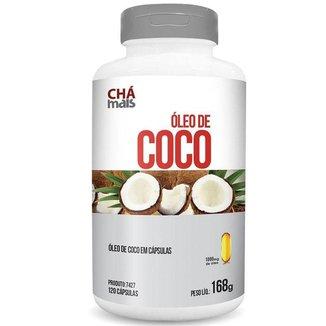 Óleo de coco extra virgem 1000mg Chá Mais 120 cápsulas