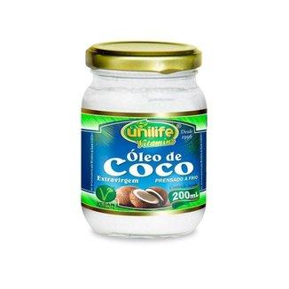 Óleo de Coco Extra virgem - 200 ml - Unilife