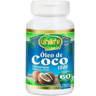 Óleo de Coco Extra Virgem 60 cápsulas Unilife