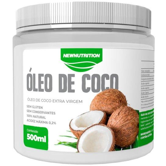 Óleo De Coco Extravirgem 500ml 100% Natural NewNutrition -