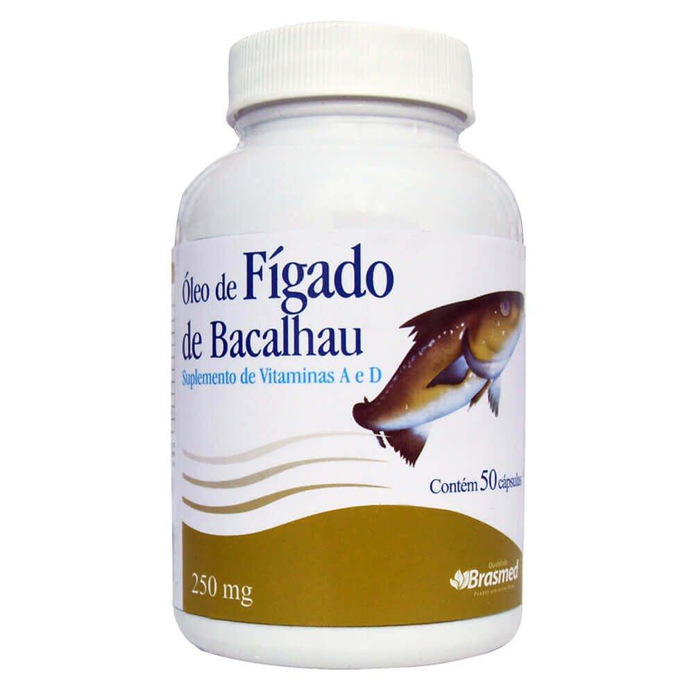 80a34f607 Óleo de Fígado de Bacalhau 250mg 50 Cps - Brasmed - Compre Agora ...