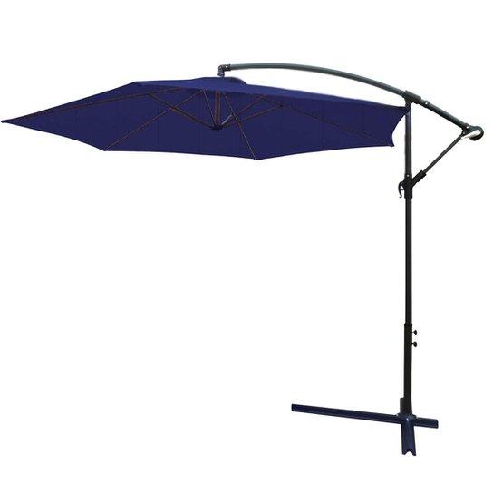 Ombrelone Suspenso 3m Com Proteção Uv Iwobl-300 - Azul
