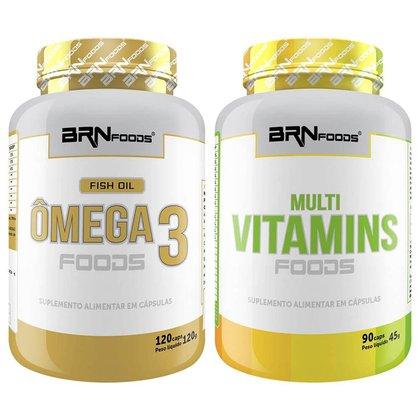 Ômega 120 cáps + Multivitamínico 90cáps - BRN Foods