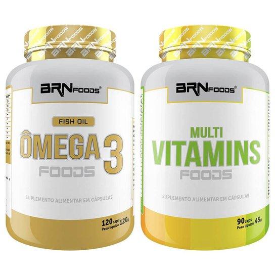 Ômega 120 cáps + Multivitamínico 90cáps - BRN Foods -