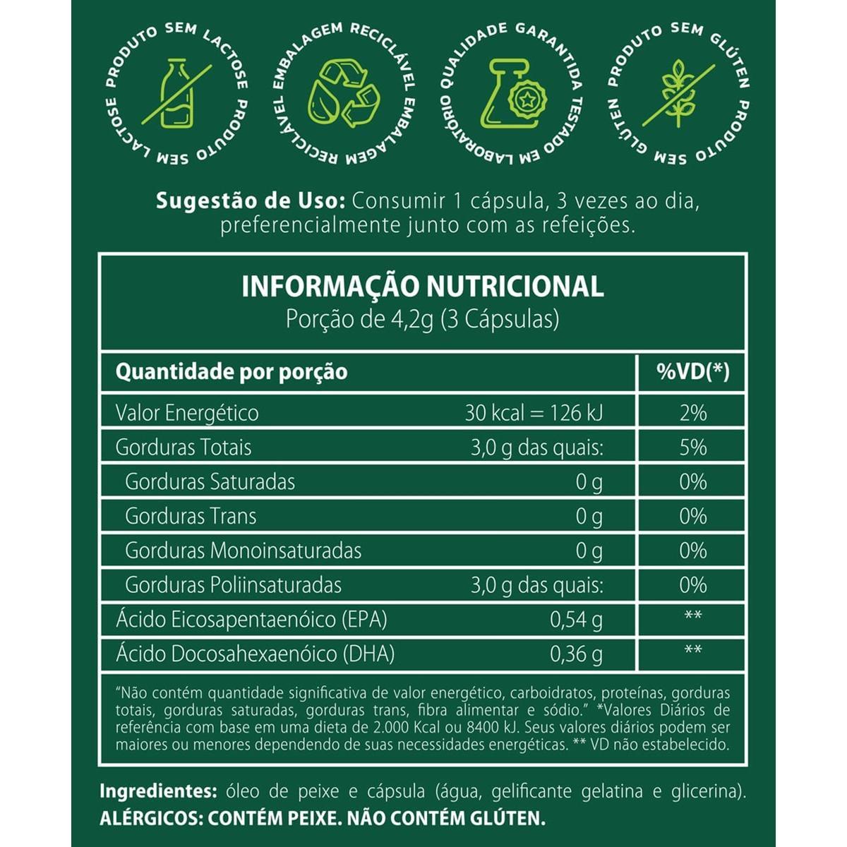 dfb0f7727 Ômega 3 (Óleo De Peixe) Vitavale 90 Cápsulas - Compre Agora