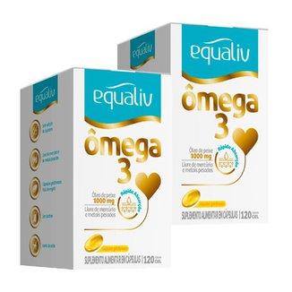 Ômega 3 - 2 unidades de 120 Cápsulas - Equaliv