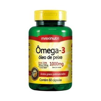 Ômega 3 6 9 Linhaça Borragem Vitamina E 1000mg 60Cáps - Maxinutri