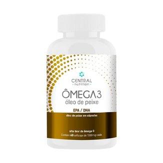 OMEGA 3 - 60 Softcaps 1000mg - Suplemento Alimentar de óleo de peixe EPA e DHA - Central Nutrition