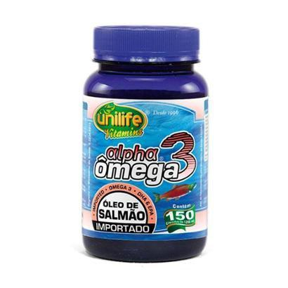 Ômega 3 Alpha (Óleo de Salmão) - 150 Cápsulas - Unilife - Unissex