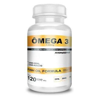 Ômega 3 Fish Oil 1000Mg 120 Capsgel - FITPHARMA