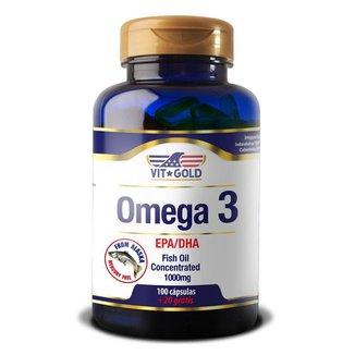 Omega 3 Fish Oil 1.000mg Vitgold 100 Cápsulas
