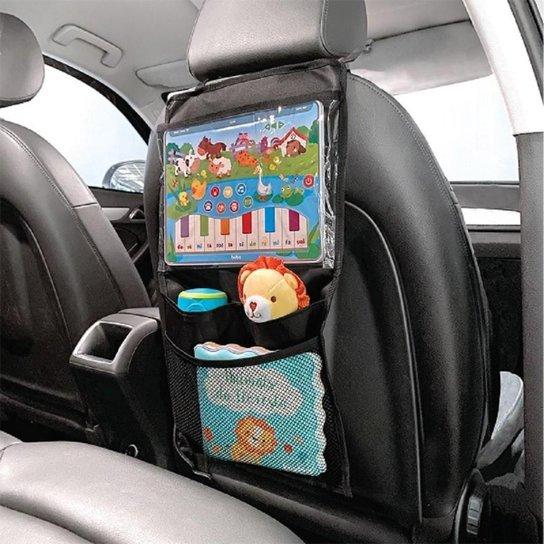 Organizador para Carro com Case para Tablet Buba - Preto