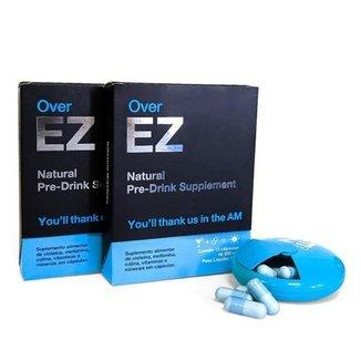 Over EZ - Prevenção de Ressaca, Desintoxicação do Fígado, 1 Cápsula Previne 1 Ressaca, 24 Cápsulas