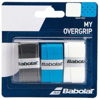 Overgrip Babolat My Grip X3 Preto Azul e Branco