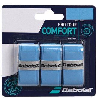 Overgrip Babolat Pro Tour Azul com 03 Unidades