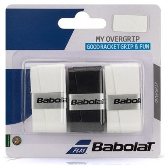 Overgrip My Overgrip X3 Babolat - Preto/Branco