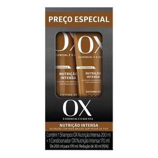 OX Cosmeticos Nutrição Intensa Kit – Shampoo 200ml + Condicionador 170ml Kit