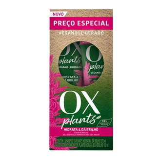 OX Plants Hidrata e Dá Brilho Kit Shampoo + Condicionador Kit