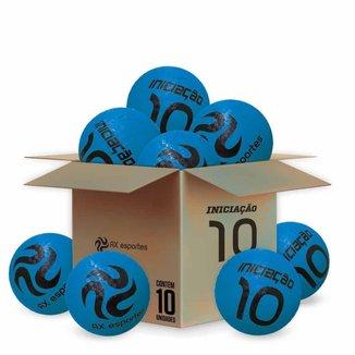 Pack c/ 10 Bolas de Iniciação AX Esportes Nº10 - Azul