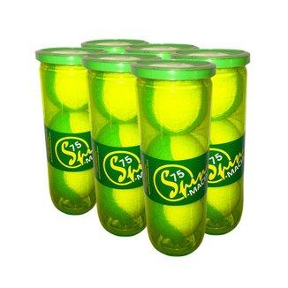 Pack de Bola de Tênis Spin Soft 75 Verde Pack com 6 Tubos SPIN