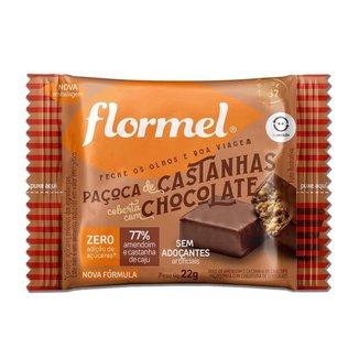 Paçoca de Castanha com Chocolate Zero Açúcar Flormel