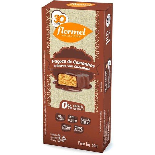 Paçoca De Castanhas Coberta Com Chocolate 66 G -