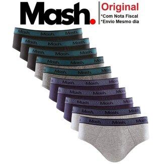 Pacote Com 6 Cuecas Mash Básica - Kit De Cuecas Slip Algodão Masculino de Alta Qualidade